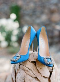 Carrie's shoes and something blue :)