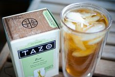 Zen green tea, brew in 8 oz of hot water, pour over 20 oz cup of ice, then add more ice or water, squeeze a lemon and no need for added sugar! Seriously so good for you, tastes wonderful! I swear by this tea :)