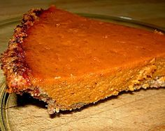 #paleo Pumpkin Pie: 1 ½ C almond meal; ¼ C melted butter (organic, pasteurized, unsalted free range churned butter); 1 T coconut crystals | Filling:1 ½ C organic pumpkin puree; 3 eggs; 1 C coconut milk; ½ C honey; 1 T arrowroot powder; 1 tsp. vanilla; 2 tsp. cinnamon; ½ tsp. ginger; ½ tsp. nutmeg; ½ tsp. allspice; ½ tsp. sea salt