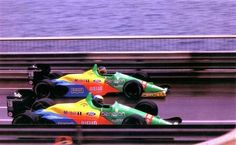 Thierry Boutsen (BEL) e Alessandro Nannini (ITA) Benetton-Ford - 1988 - Mônaco