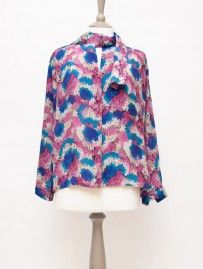 Vintage 80's Bow Floral Shirt from Lallys Closet - £18