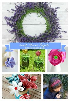 Flower Projects featured on Simply Designing