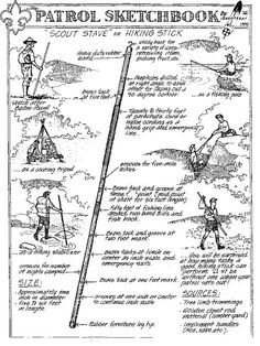 """Scout Stave or Walking Stick. A basic preparedness tool without turning it into a """"survival"""" staff or a secondary pack weighing you down. Bushcraft Skills, Bushcraft Camping, Camping Survival, Outdoor Survival, Survival Prepping, Survival Skills, Bushcraft Pack, Survival School, Camping Tools"""