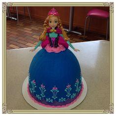 Frozen Princess Anna cake I made today. Ice cream cake.