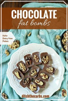 What is a chocolate fat bomb???? Watch this quick cooking video to  see finally how to make chocolate fat bombs. Dairy free, sugar free, Paleo, low carb and keto snack. | ditchthecarbs.com