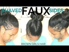 Faux Shaved Sides with Ponytail - YouTube