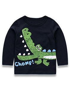 Tecrok Little Boys Zip-up Hoodies Jacket Toddler Kids Cartoon Dinosaur Hooded Sweatshirt