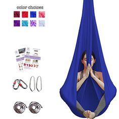 Straightforward Full Set Aerial Anti-gravity Yoga Hammock Swing Yoga Bed 1 Pair Carabiner 1 Pair Ring Mount High Resilience 1 Pair Extender Rope