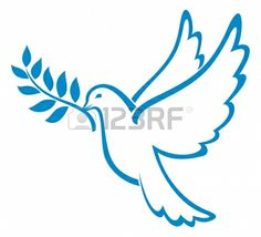 dove of peace (peace dove, symbol of peace) Stock Vector - 14836469
