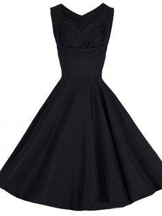 Sweetheart Plain Skater-dresses