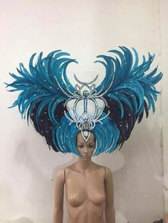 Feather clothing Stage performance catwalk carnival Headdress flower pubs party Men's wear women's clothing