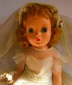 I love this kind of doll. Want: VTG Madame Alexander 50's Beautiful Binnie Bride Doll Cissy Face~~Near Perfect! | eBay