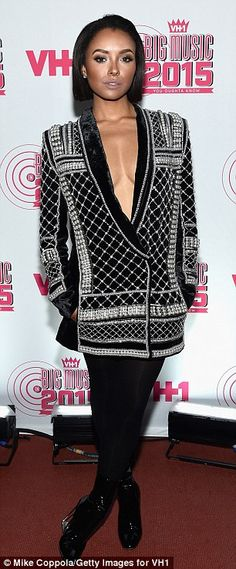 Ladies' night: Other attendees included Kat Graham in Balmain and Gladys Knight in blue su...