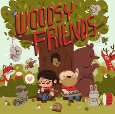 by Lauren Gregg, for a music/art project called Woodsy Friends.