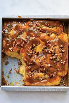 This sticky bun recipe incorporates sweet potatoes, oranges, pecans and maple syrup to create the ultimate fall dessert recipe. Whether you're eating this sweet potato recipe for a sweet breakfast recipe alongside a pumpkin spice latte or paired with vanilla ice cream for dessert, it's a great choice for a fall recipe.#fallrecipes #stickybunrecipes #sweetpotatorecipes #dessertrecipes #falldesserts #fallbrunch #brunchrecipes