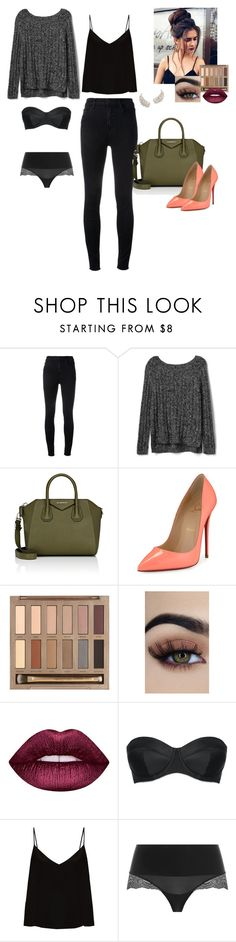 """""""Untitled #52"""" by sadie3132 on Polyvore featuring J Brand, Gap, Givenchy, Christian Louboutin, Urban Decay, Lime Crime, L'Agent By Agent Provocateur, Raey and SPANX"""