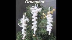 CROCHET CHRISTMAS ORNAMENT, LEARN HOW TO CROCHET AN ICICLE ORNAMENT, via YouTube.