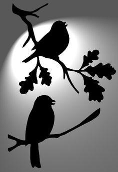 birds bird stencil mylar 125 micron tatooShabby
