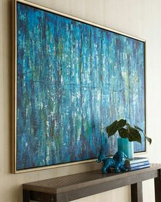 Blue art w/grey