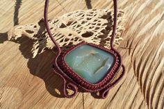 Check out this item in my Etsy shop https://www.etsy.com/listing/216919480/handmade-macrame-stone-necklace-with