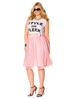 Tulle Skirt From The Plus Size Fashion Community At www.VintageAndCurvy.com