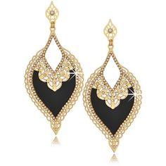 LK DESIGNS MIDNIGHT MIST Black Earrings style=