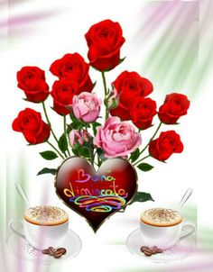 Beautiful Rose Flowers, Morning Greeting, Good Morning Quotes, Coffee Time, Romantic, Night, Falling Out Of Love, Good Morning, Birthday