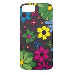Cute Black and Colorful Floral iPhone7 case