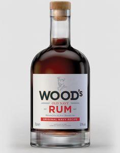 William Grant & Sons Wood's Old Navy Rum — The Dieline - Branding & Packaging