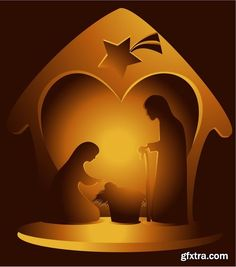 Collection of vector images of the birth of Jesus Christ 25 Eps