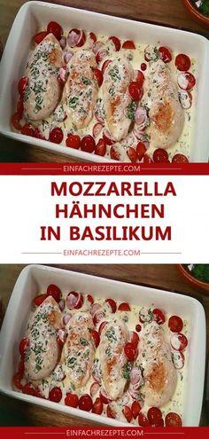 delicious mozzarella chicken in basil-lecker Mozzarella – Hähnchen in Basilikum delicious mozzarella chicken in basil -