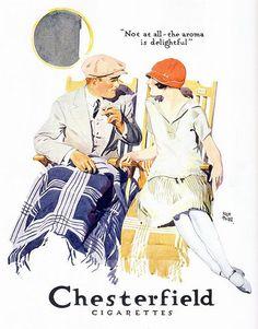 artdecoblog:  Chesterfield Cigarettes, 1926 on Flickr.