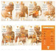 2016 Tennessee Football Season Ticket Design & Gameday Program Cover Design