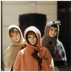 Mark Shaw - Three Hooded Models Paris, 1960