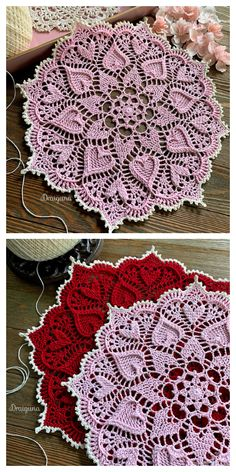 Sweetheart Soiree Doily Free Crochet Pattern - DIY Magazine Best Picture For crochet patterns for men For Your Taste You are looking for something, and it is going to tell you exactly what you are loo Crochet Dollies, Bag Crochet, Thread Crochet, Crochet Crafts, Crochet Flowers, Crochet Hooks, Crochet Projects, Free Crochet Doily Patterns, Crochet Snowflake Pattern