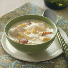 Comfort Food Soup Recipes from Taste of Home, including Au Gratin Chicken Chowder