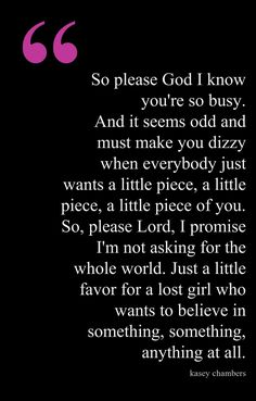 Is God Real? Lyrics Kasey Chambers. Good question.