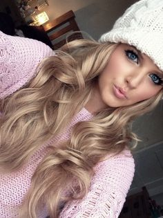 Pretty hair...just bought of few of these hats too and I love them! =)