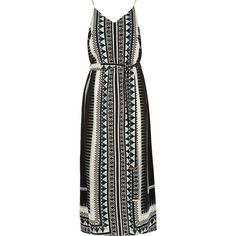 River Island RI Plus blue printed maxi dress ($20) ❤ liked on Polyvore featuring dresses, vestidos, sale, blue dress, blue plus size dress, blue maxi dress, geometric print dress and geometric pattern dress