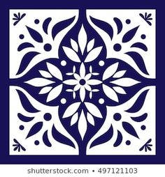 Delft dutch or portugal tiles pattern with indigo and white ornaments. Delft dutch or portugal tiles pattern with indigo and white ornaments. Delft, Blue Tiles, White Tiles, Tile Patterns, Pattern Art, Painting Tile Floors, Mexican Ceramics, White Ornaments, Blue Pottery
