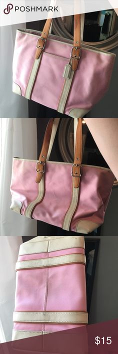 Coach purse Authentic Coach material and leather purse. Coach Bags Shoulder Bags