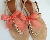Sandali di cuoio sandali sandali da sposa di lizaslittlethings