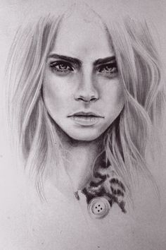 it was originally cara delevingne but if you squint it looks like emma watson. will be attempting to draw her for the 3rd time tomorrow, she...