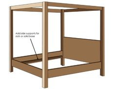 do it yourself 4-poster bed