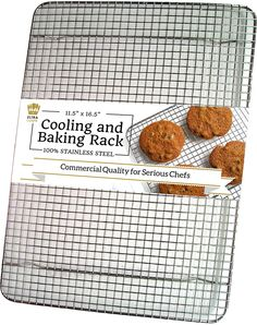 A good quality 100% stainless steel rack can withstand high oven temperatures and elevates your chicken, fish or roasts for even cooking all around. It also allows excess fat and grease to drip away from your food. Great for breaded dishes too, so the breading on the bottom can get crispy.