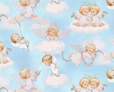 Tecido Anjinhos no Céu