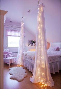Around the crib instead of a night light.