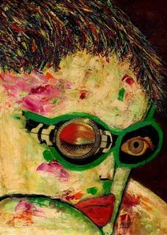 "Saatchi Art Artist CARMEN LUNA; Painting, ""24-RETRATOS Expresionistas. Voyeur."" #art http://www.saatchiart.com/art-collection/Painting-Assemblage-Collage/Expressionist-Portrait/71968/51263/view"