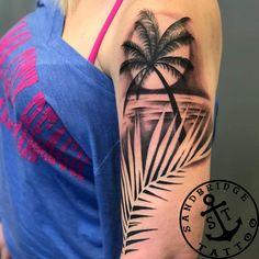 50 Best Cat Tattoo Designs For Men And Women - Tree Tattoos Tropisches Tattoo, Tree Sleeve Tattoo, Full Sleeve Tattoo Design, Full Sleeve Tattoos, Sleeve Tattoos For Women, Tattoo Drawings, Dope Tattoos, Body Art Tattoos, Tribal Tattoos