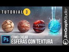 Como Crear Esferas con Textura en Photoshop - Tutorial 3 - JimGraph Studio - YouTube